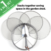 Picture of Practicool Stainless Steel Garden Potting Sieve/Riddle - with 4 interchangeable mesh sizes - 3,6,9,12mm and bonus spade